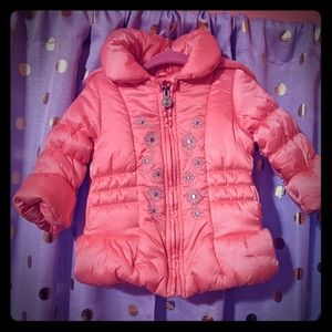 London Fog pink baby coat 12 months